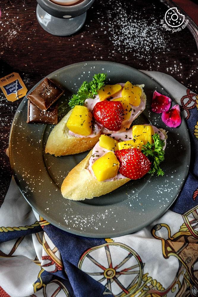Image - recipe tropical brushetta with berry yogurt cheese anupama paliwal my ginger garlic kitchen 6