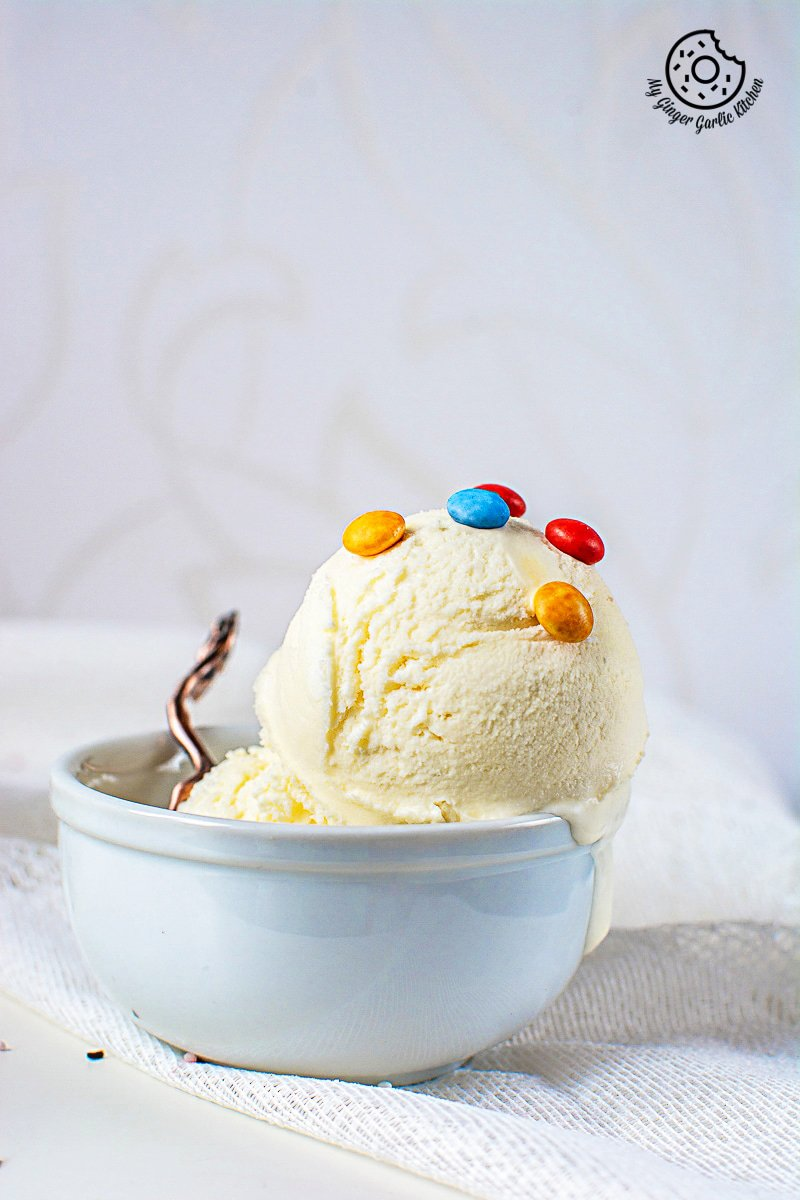 Image of Homemade Vanilla Ice Cream Recipe (No Ice Cream Machine)