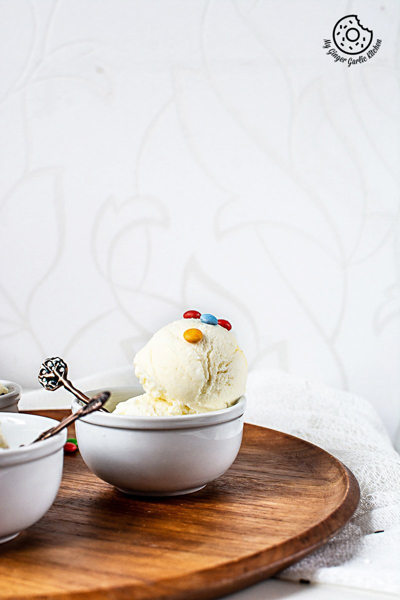 Vanilla Ice Cream Recipe | Easy No-Churn Homemade Ice Cream | mygingergarlickitchen.com/ @anupama_dreams