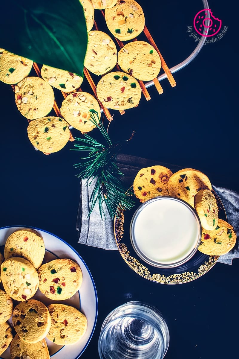 Eggless Tutti Frutti Cookies Recipe — Karachi Biscuit | | mygingergarlickitchen.com/ @anupama_dreams