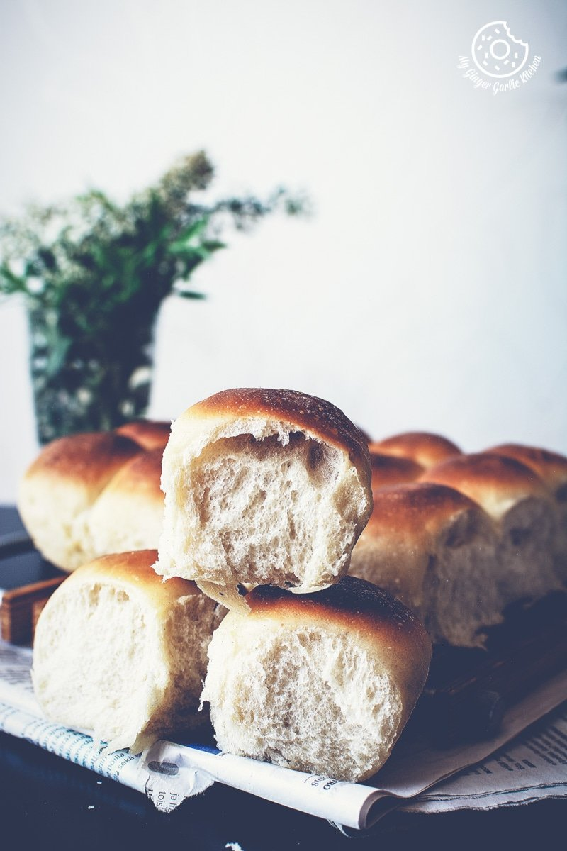 Image of Eggless Ladi Pav | Soft and Fluffy Dinner Rolls Recipe Video