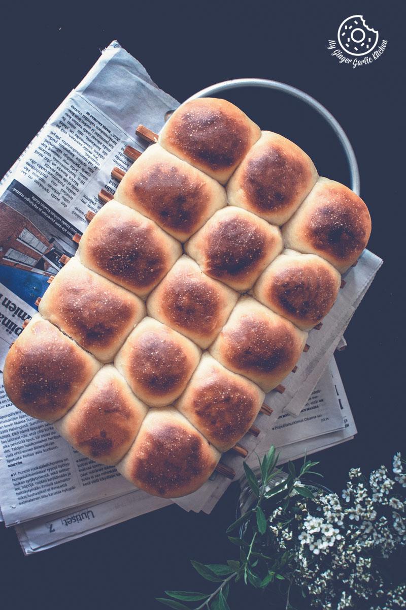 Eggless Ladi Pav | Soft and Fluffy Dinner Rolls Recipe Video | | mygingergarlickitchen.com/ @anupama_dreams
