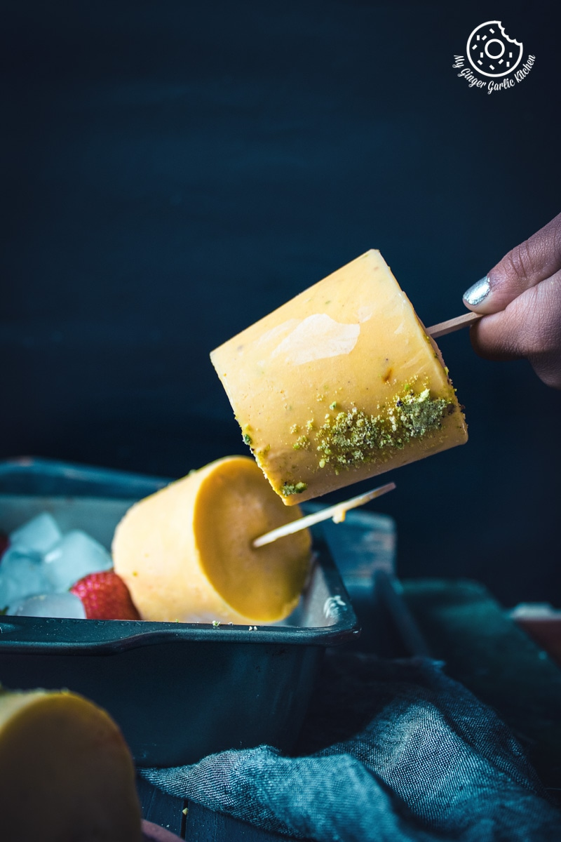 How To Make Quick Mango Kulfi Recipe | No Cook Mango Kulfi Recipe | mygingergarlickitchen.com/ @anupama_dreams