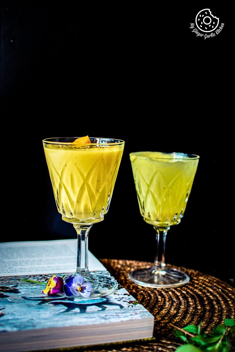 Mango Lassi Recipe | mygingergarlickitchen.com/ @anupama_dreams