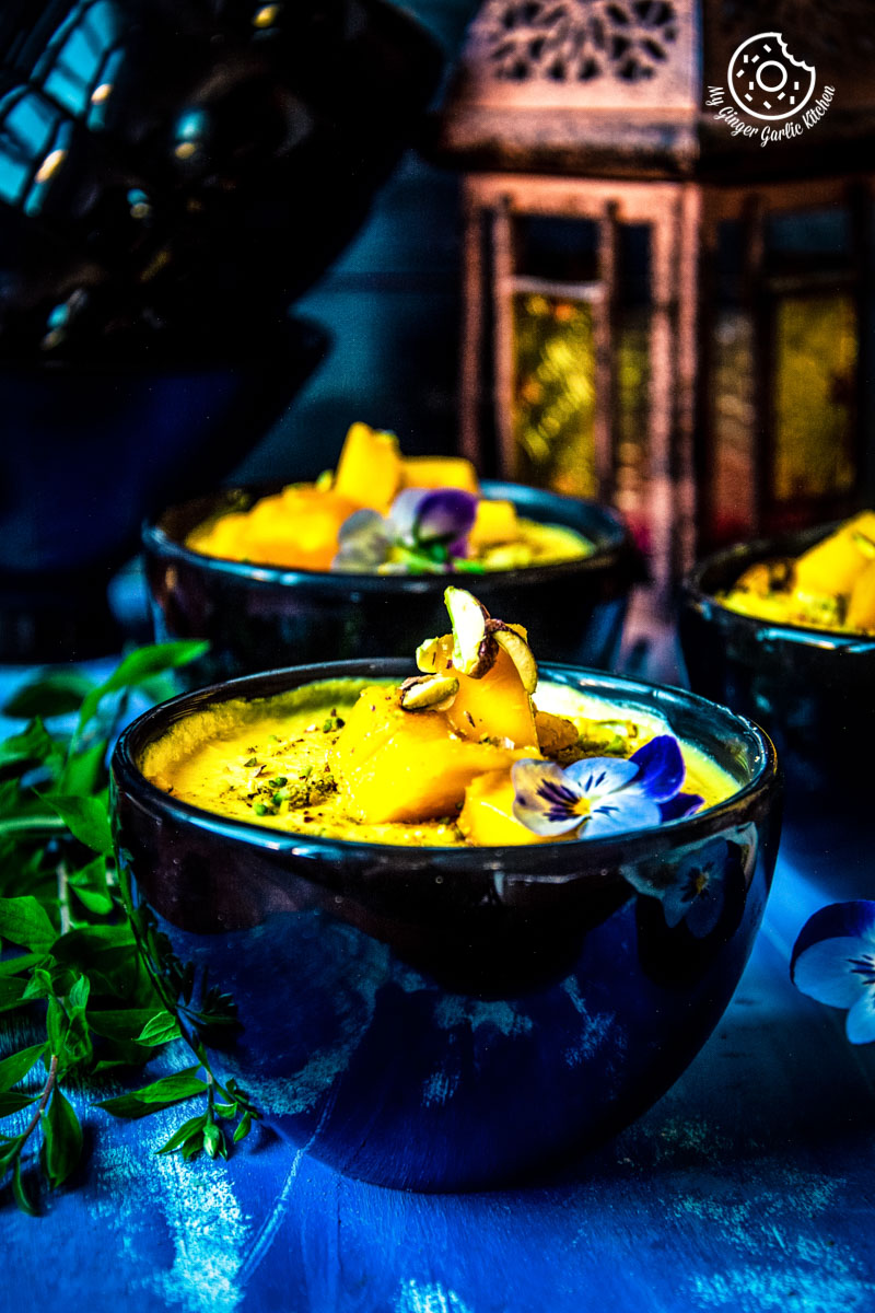 Mango Shrikhand Recipe | Amarkhand Recipe | mygingergarlickitchen.com/ @anupama_dreams