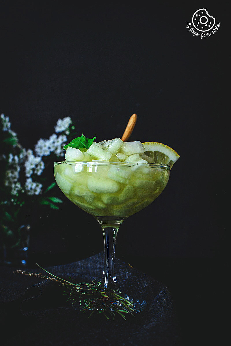 Summer Melon Dessert | Kharbuje Ka Panna Recipe | mygingergarlickitchen.com/ @anupama_dreams