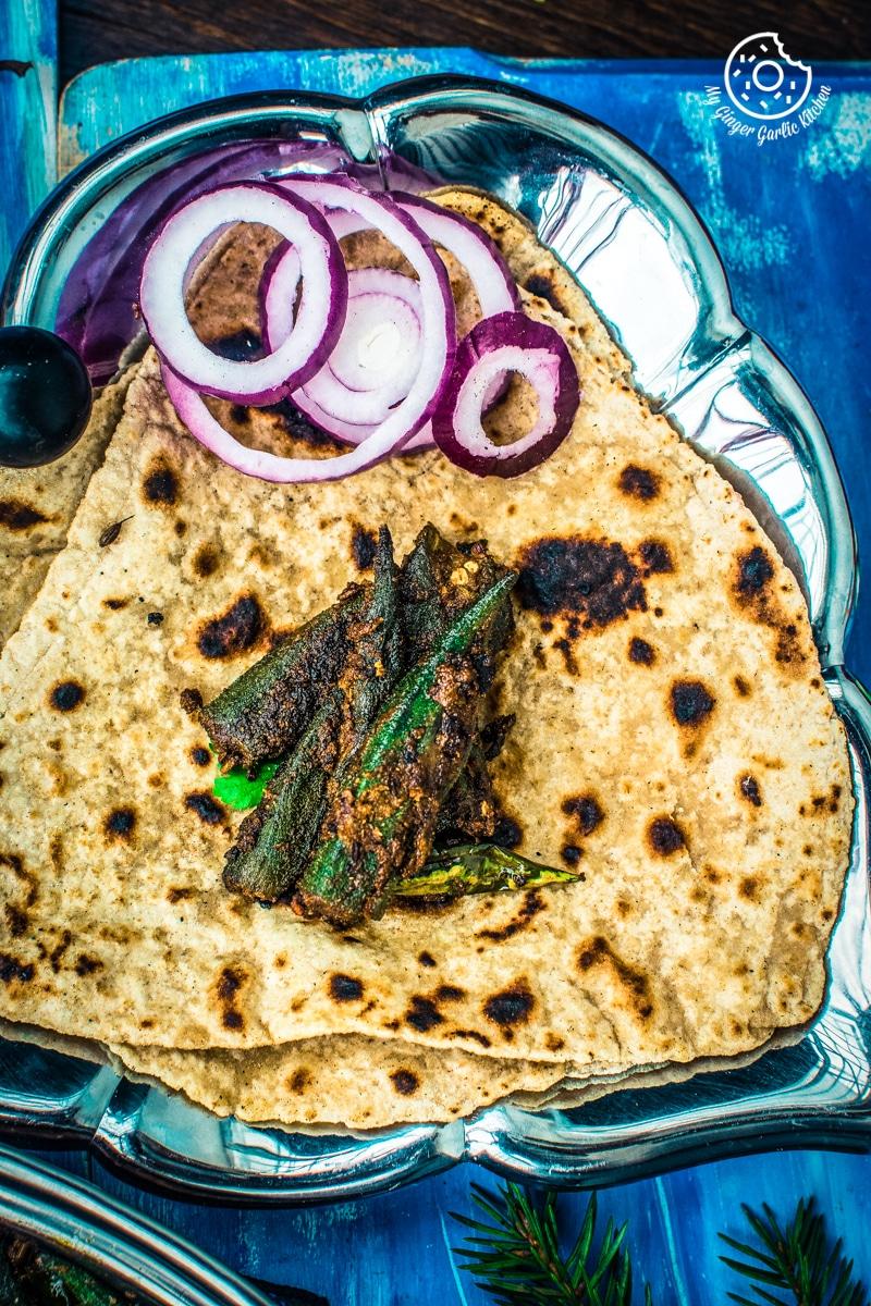 Image - how to make bharwa bhindi recipe stuffed okra masala recipe video anupama paliwal my ginger garlic kitchen 7