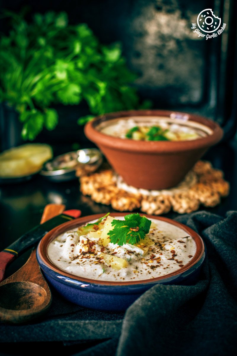Image of Pineapple Raita Recipe - Ananas Raita Recipe
