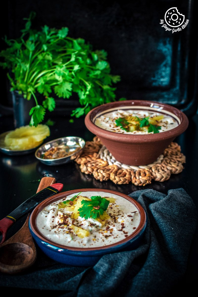 Pineapple Raita Recipe | Ananas Raita Recipe | mygingergarlickitchen.com/ @anupama_dreams