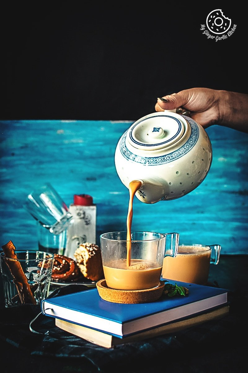 Indian Masala Chai Recipe | Spiced Milk Tea Recipe | mygingergarlickitchen.com/ @anupama_dreams