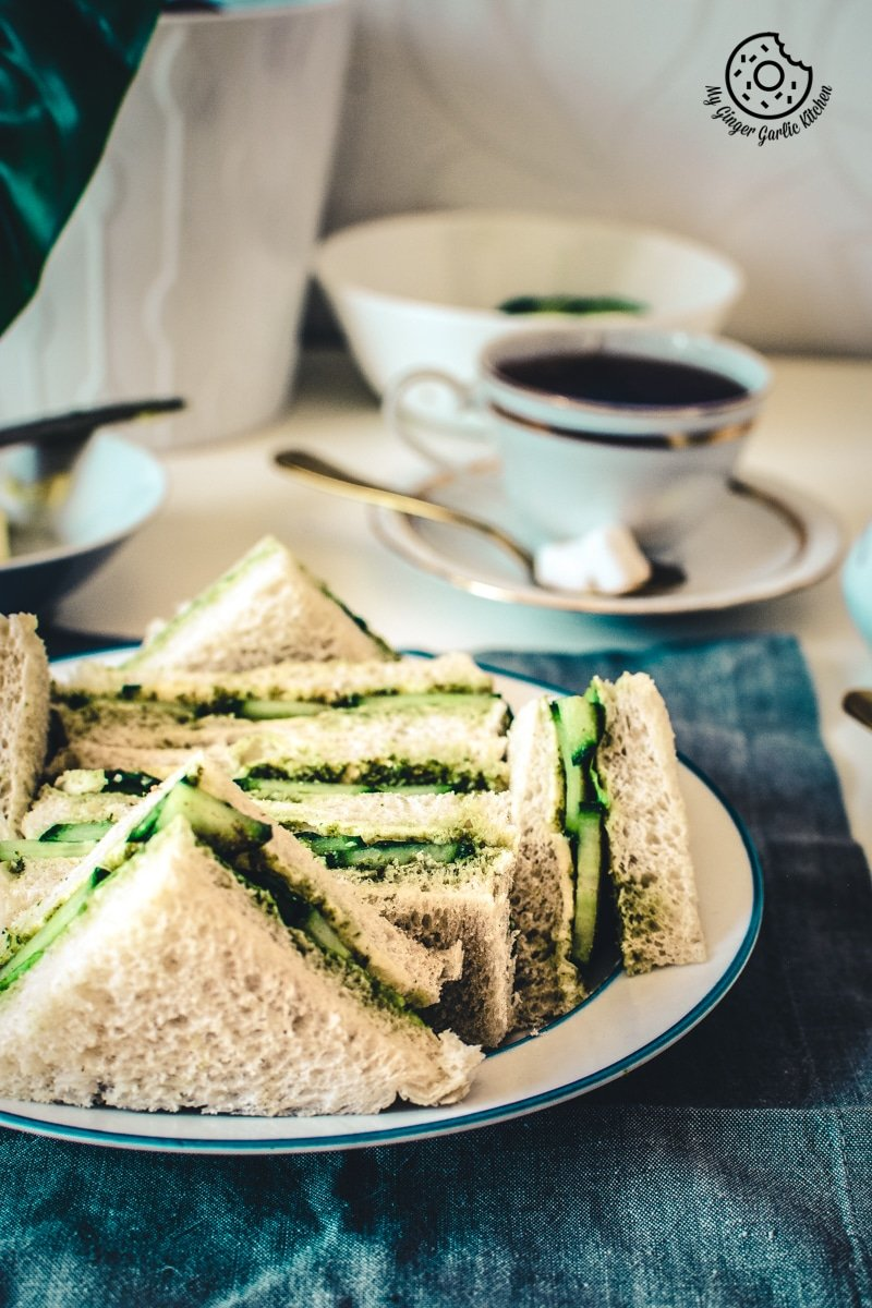Image of Indian Cucumber Chutney Sandwich – Tea Time Sandwich