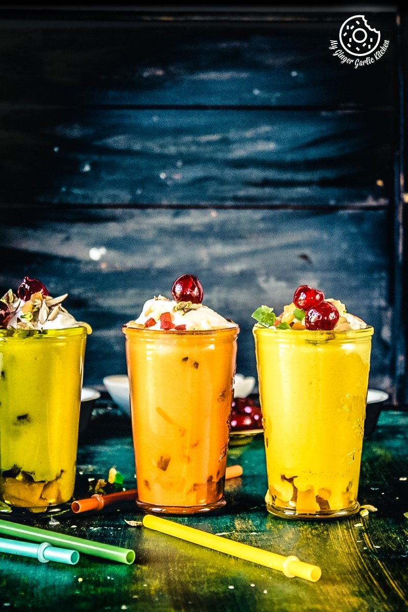 Mango Mastani Recipe | Mango Milkshake With Ice Cream | | mygingergarlickitchen.com/ @anupama_dreams