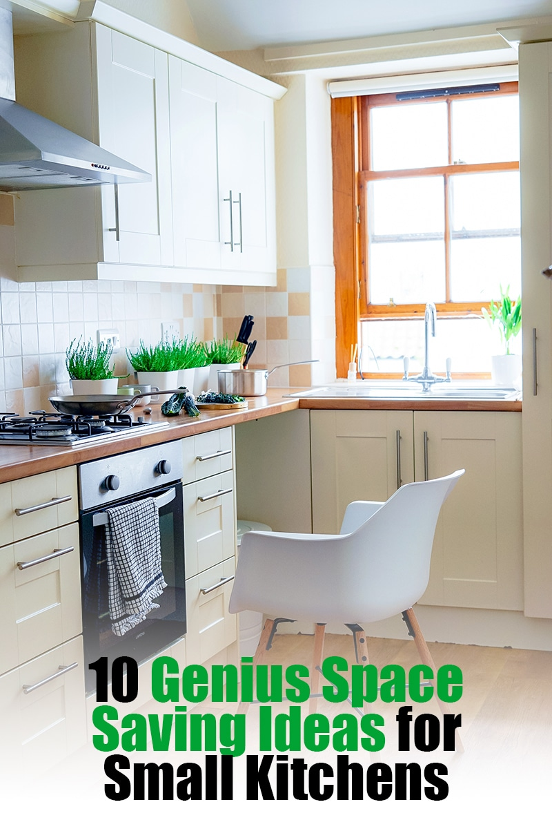 10 Genius Space Saving Ideas for Small Kitchens | mygingergarlickitchen.com/ @anupama_dreams