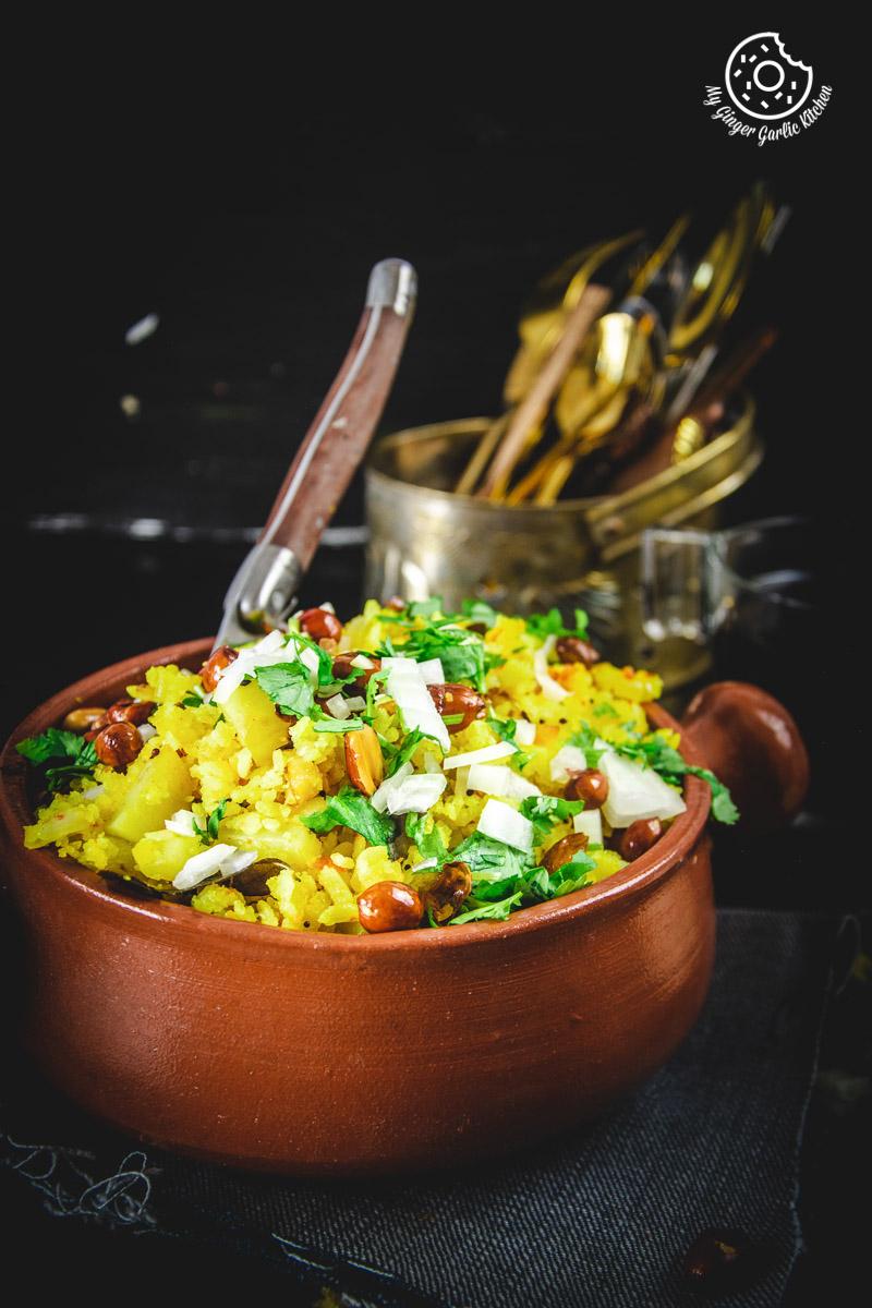Image - aloo poha recipe video anupama paliwal my ginger garlic kitchen 2