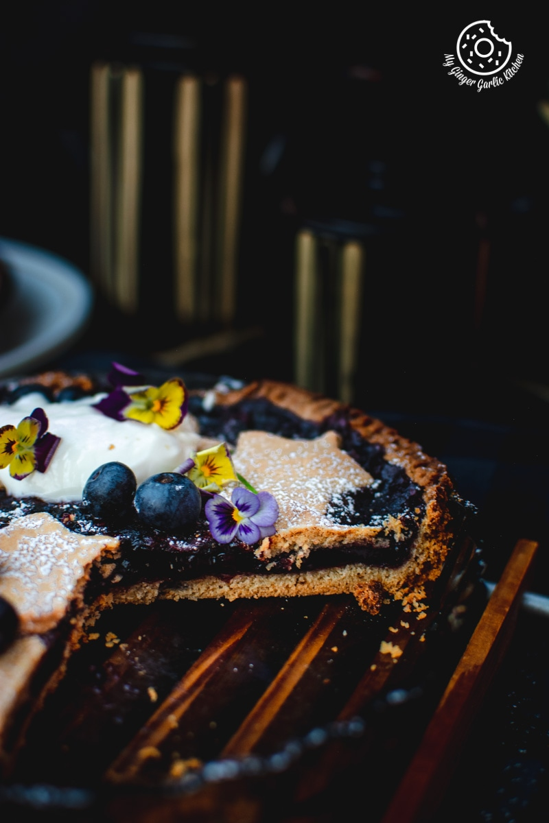 Blueberry Pie Recipe | mygingergarlickitchen.com/ @anupama_dreams