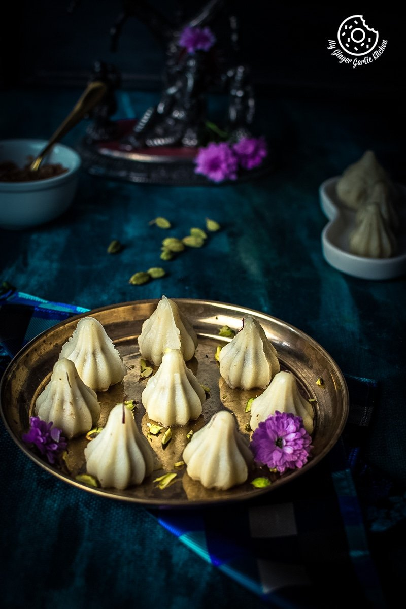 Modak Recipe | Ukdiche Modak Recipe | How To Make Steamed Modak | mygingergarlickitchen.com/ @anupama_dreams