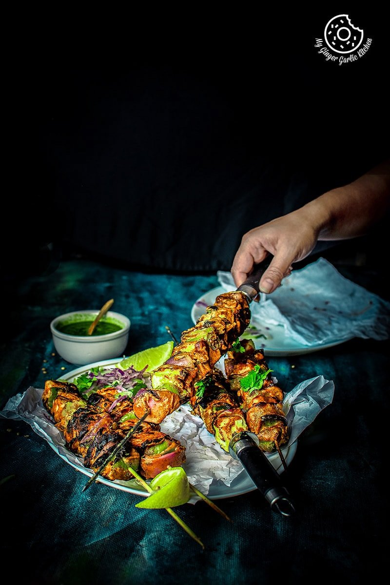 Tandoori Paneer Tikka Recipe - 4 Ways ( in The Oven, Tawa, Grill) | mygingergarlickitchen.com/ @anupama_dreams