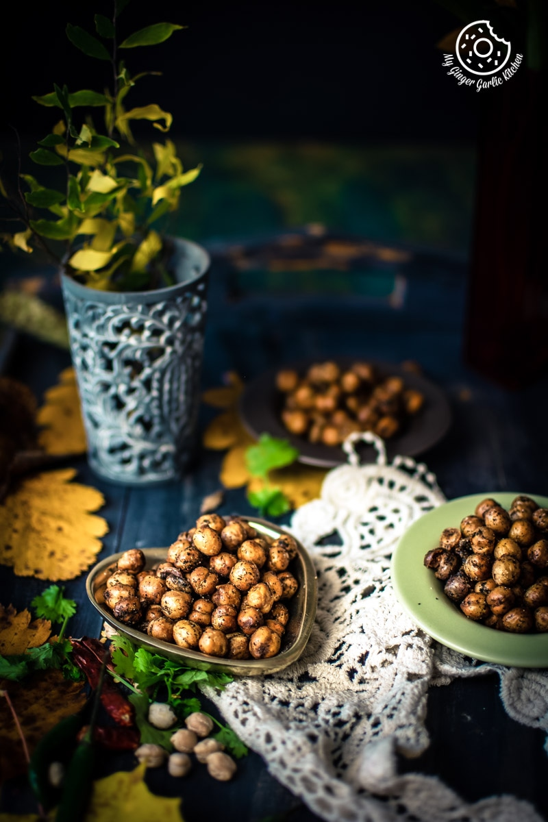 Image of Crispy Fried Chana Masala - Crunchy Crispy Chickpeas