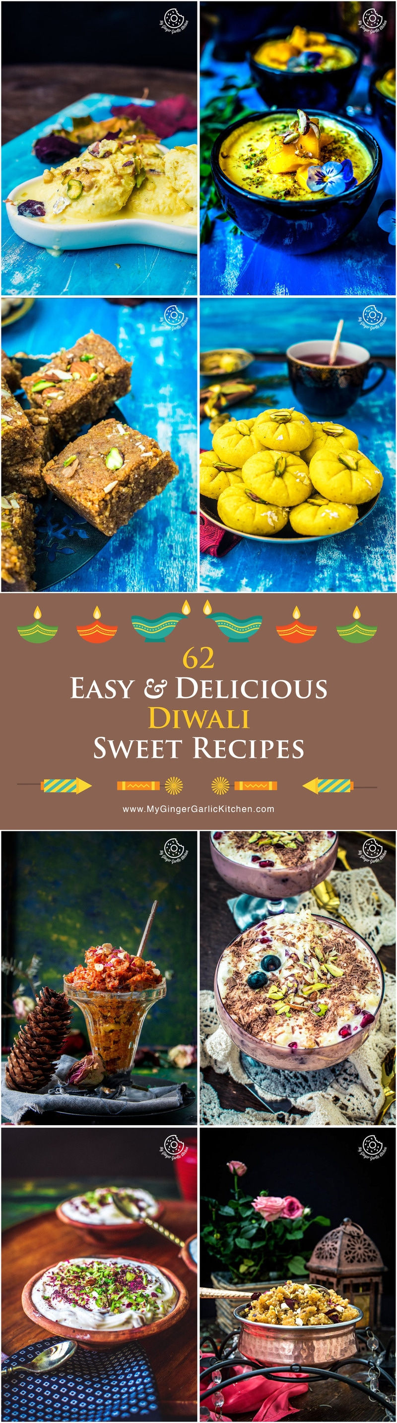 Easy and Delicious Diwali Sweets Recipes | mygingergarlickitchen.com/ @anupama_dreams