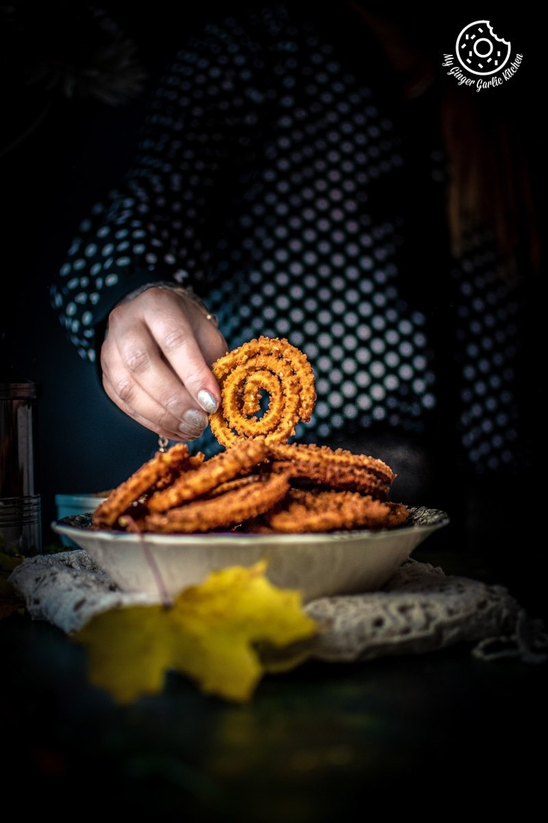Image of Chakli Recipe – Instant Rice Chakli (Fried + Baked)