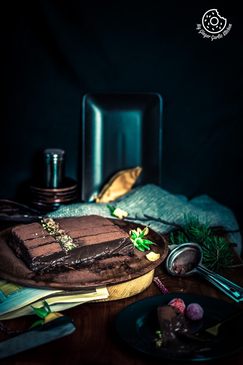 Eggless Chocolate Mousse Cake Recipe | No Bake | | mygingergarlickitchen.com/ @anupama_dreams
