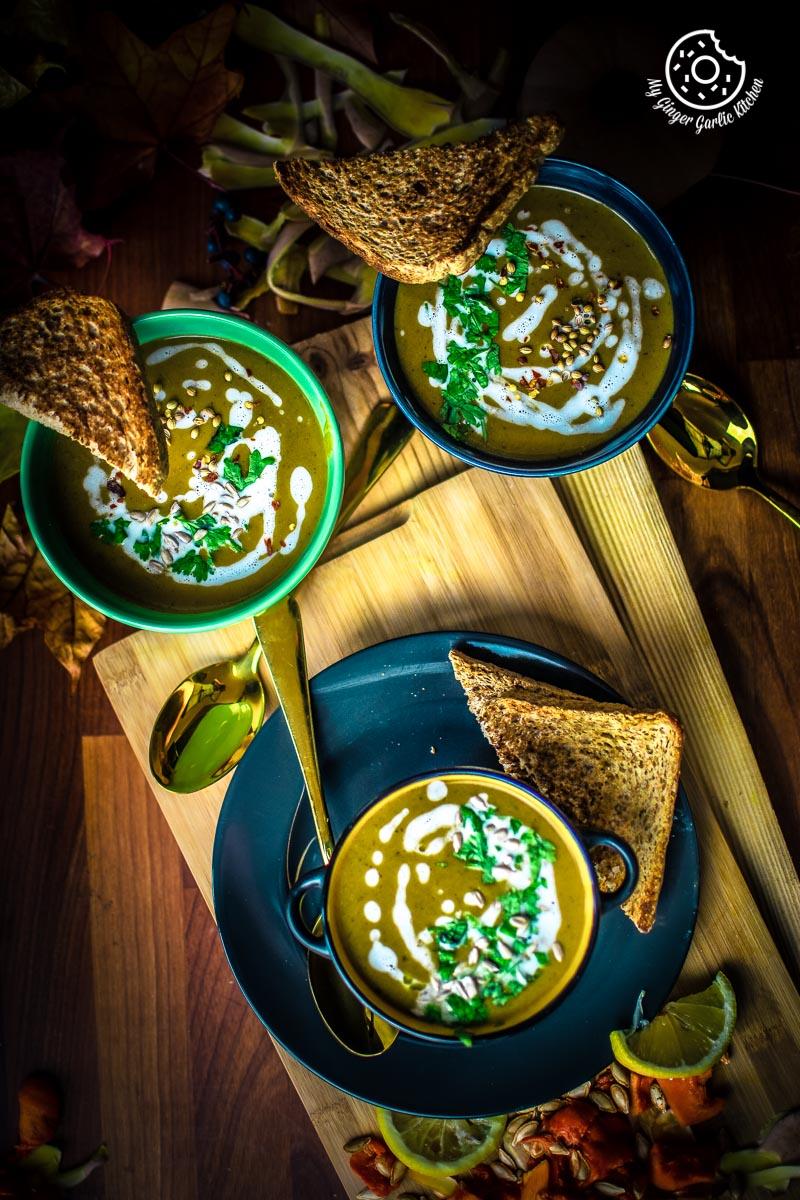Butternut Squash Soup Recipe | mygingergarlickitchen.com/ @anupama_dreams