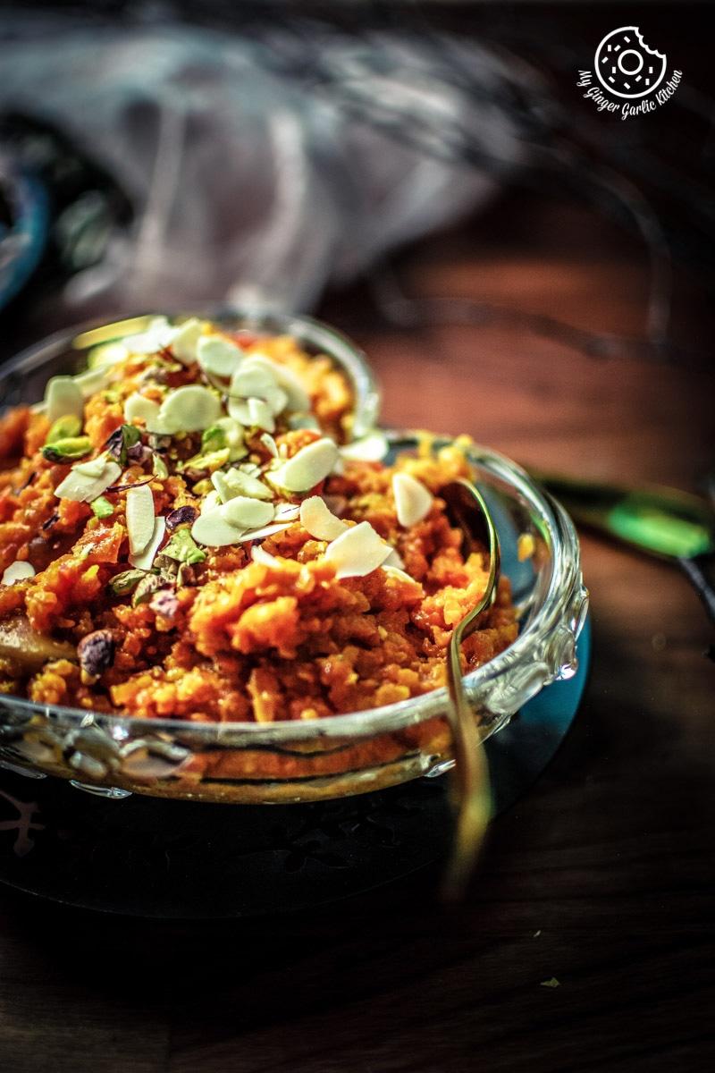 Instant Pot Gajar Halwa | Carrot Halwa Recipe | mygingergarlickitchen.com/ @anupama_dreams