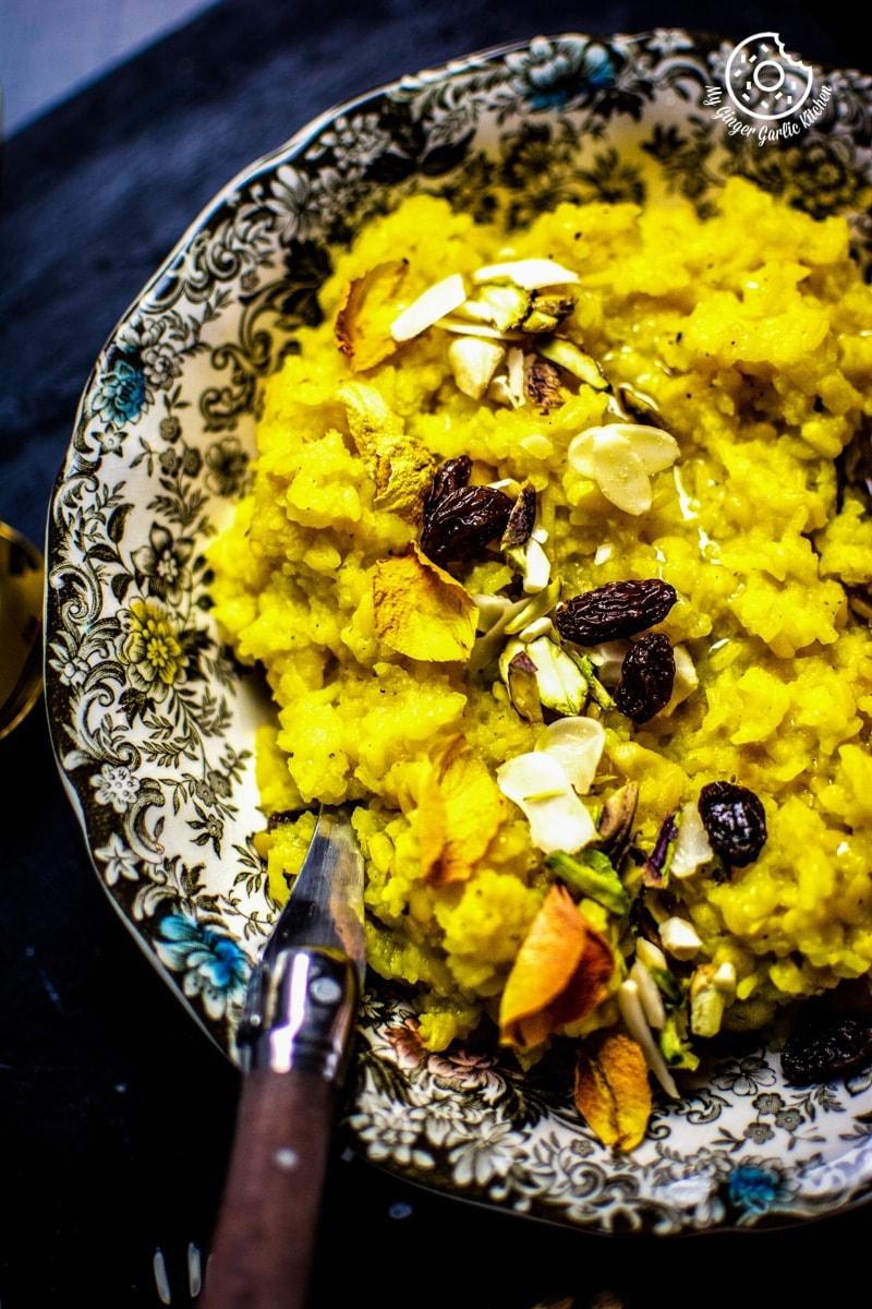 Image of Paush Khichda - Sweet Khichdi (Pan, Cooker, Instant Pot)