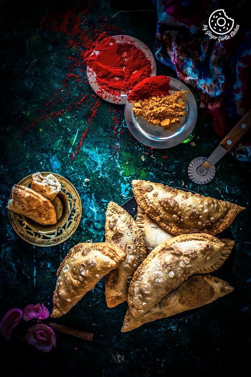 Gujiya Recipe | Mawa Gujiya Recipe | mygingergarlickitchen.com/ @anupama_dreams