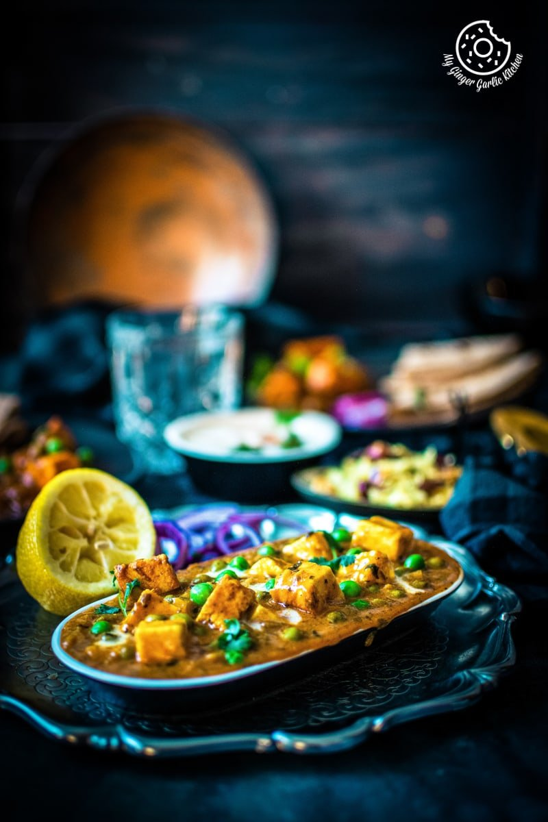 Image of Instant Pot Matar Paneer - Pressure Cooker Peas and Paneer