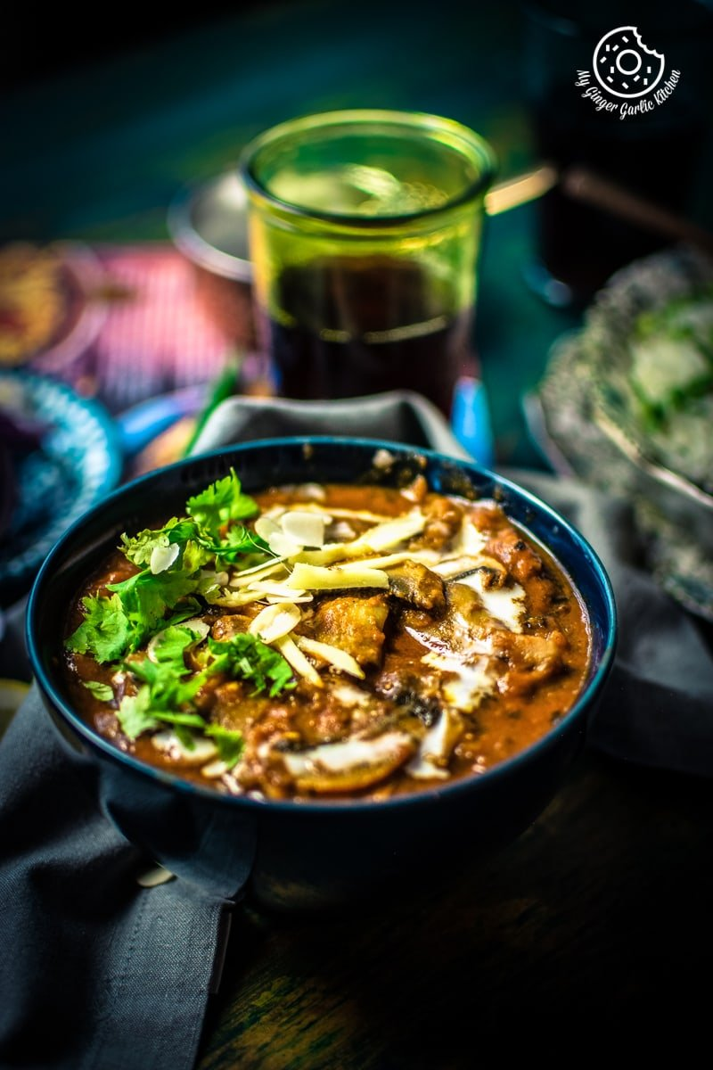 Image of Mushroom Masala Recipe | Mushroom Curry (Instant Pot + Pressure Cooker + Pan)
