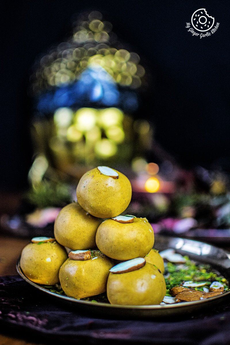 Image of Besan Ladoo Recipe - Sweet Chickpea Flour Balls