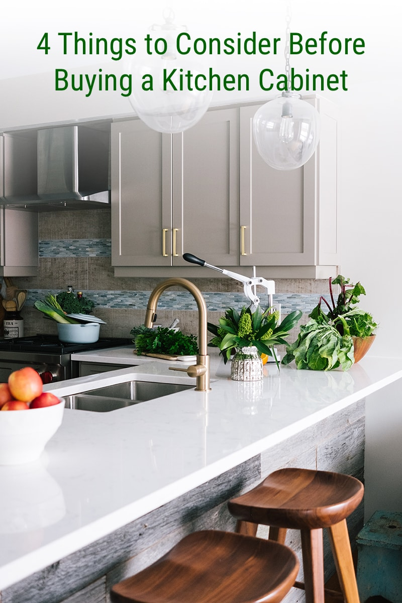4 Things to Consider Before Buying a Kitchen Cabinet