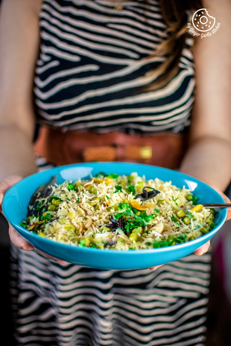 Image of Matar Pulao (Pan, Pressure Cooker, and Instant Pot Recipe)