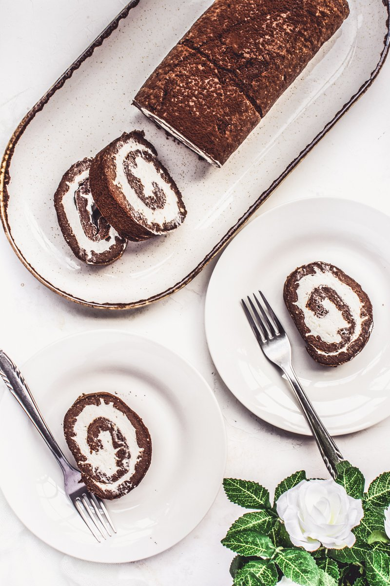 Image of Keto Cocoa Cake Roll