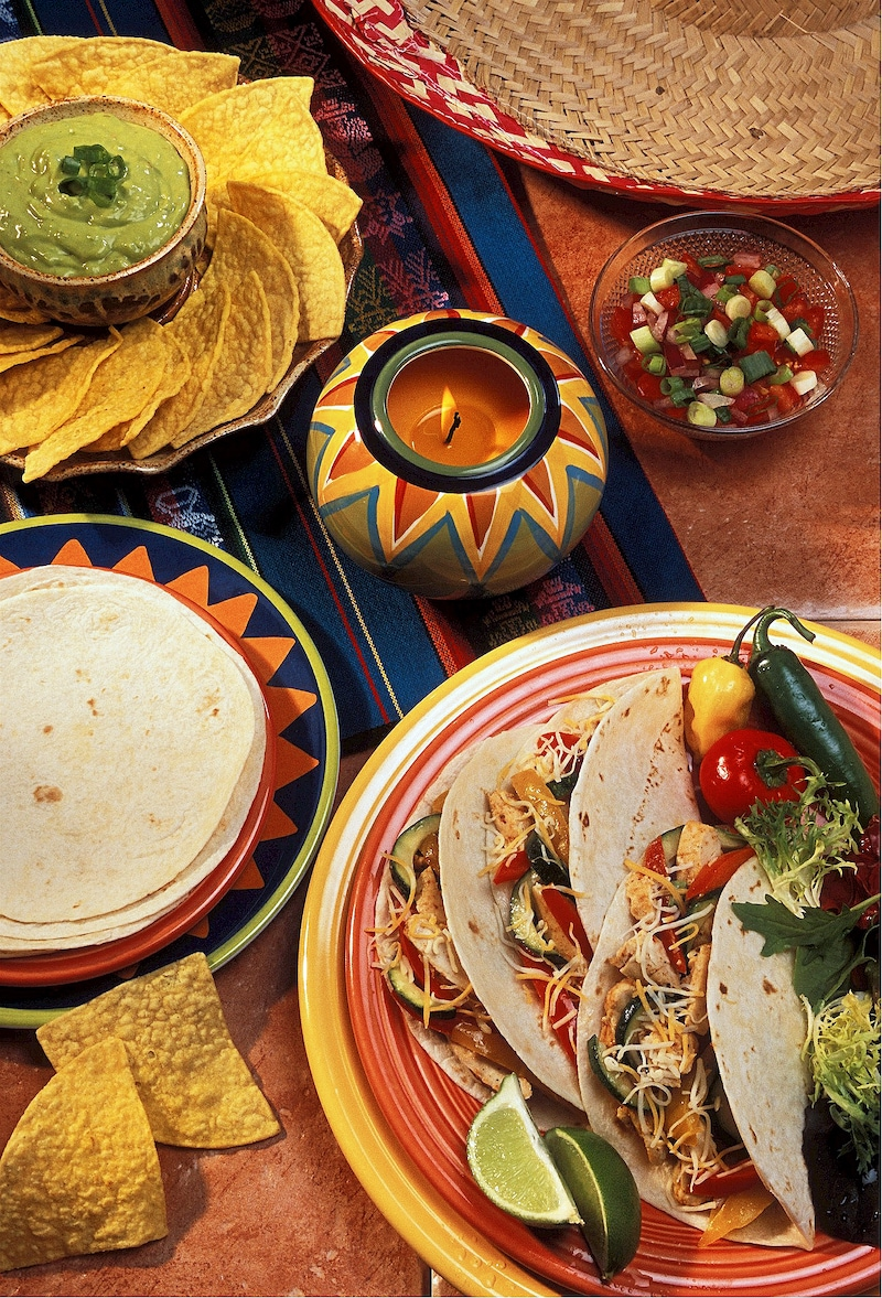 chicken fajitas with roasted red peppers