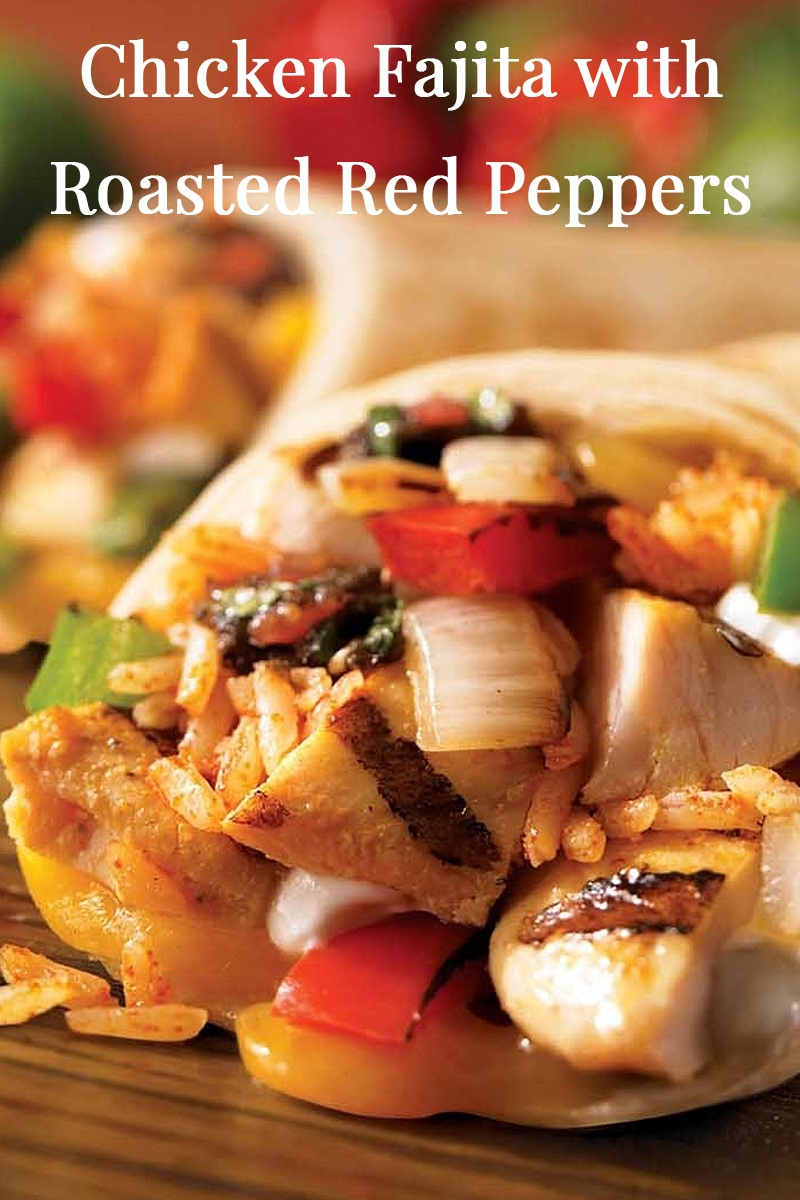 Image of Chicken Fajitas with Roasted Red Peppers