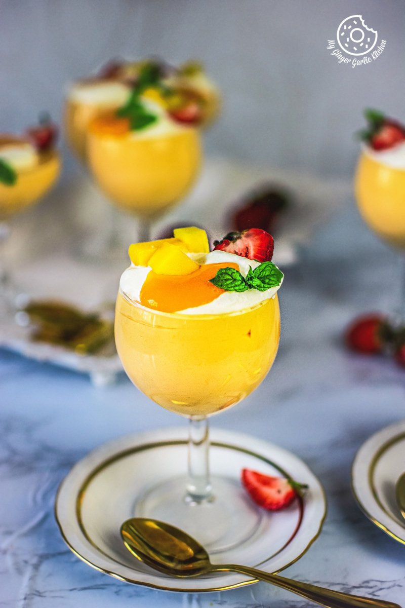 eggless mango mousse recipe