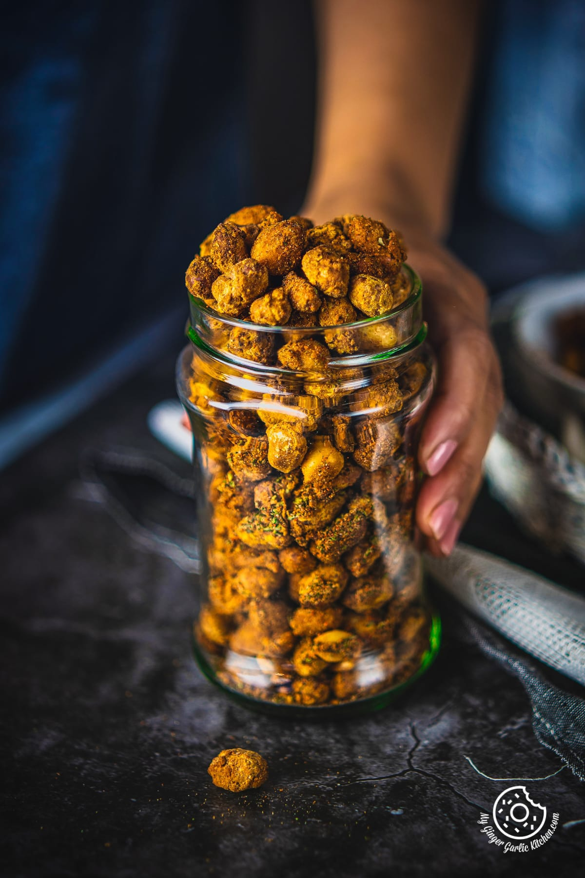 Image of Masala Peanuts (Air Fryer, Baked and Fried Recipe)