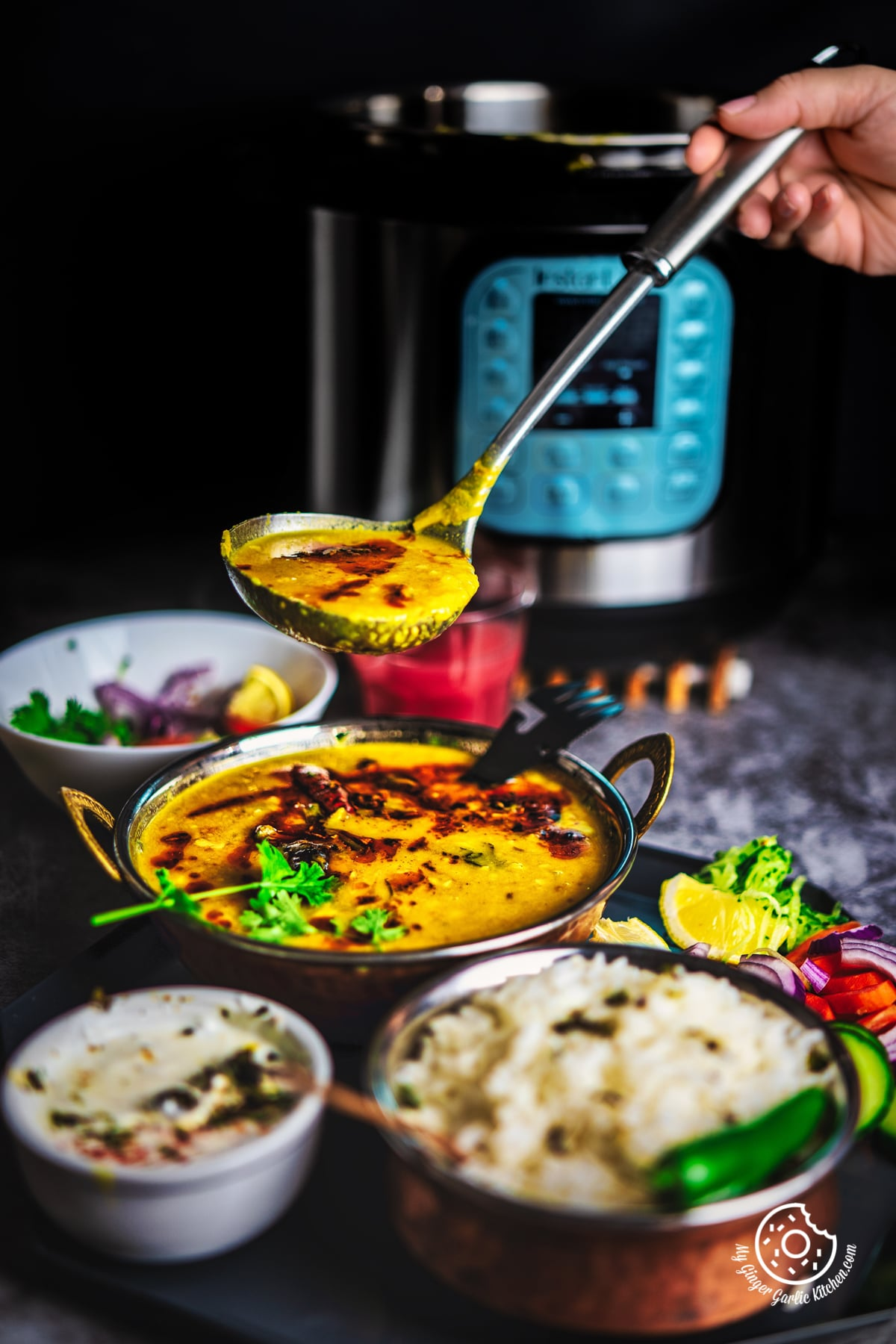 Image of Toor Dal Tadka -  Instant Pot + Pressure Cooker