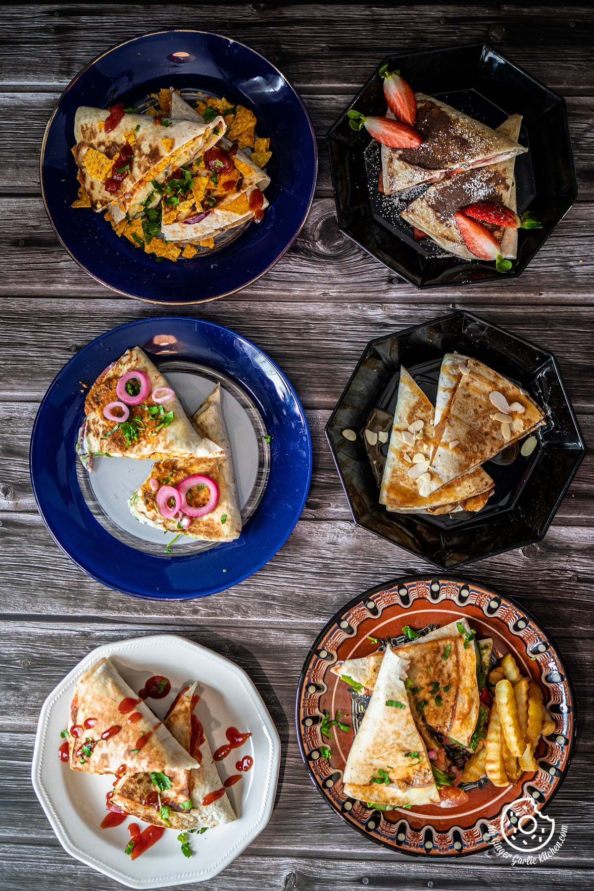6 tortilla wraps on a wooden table