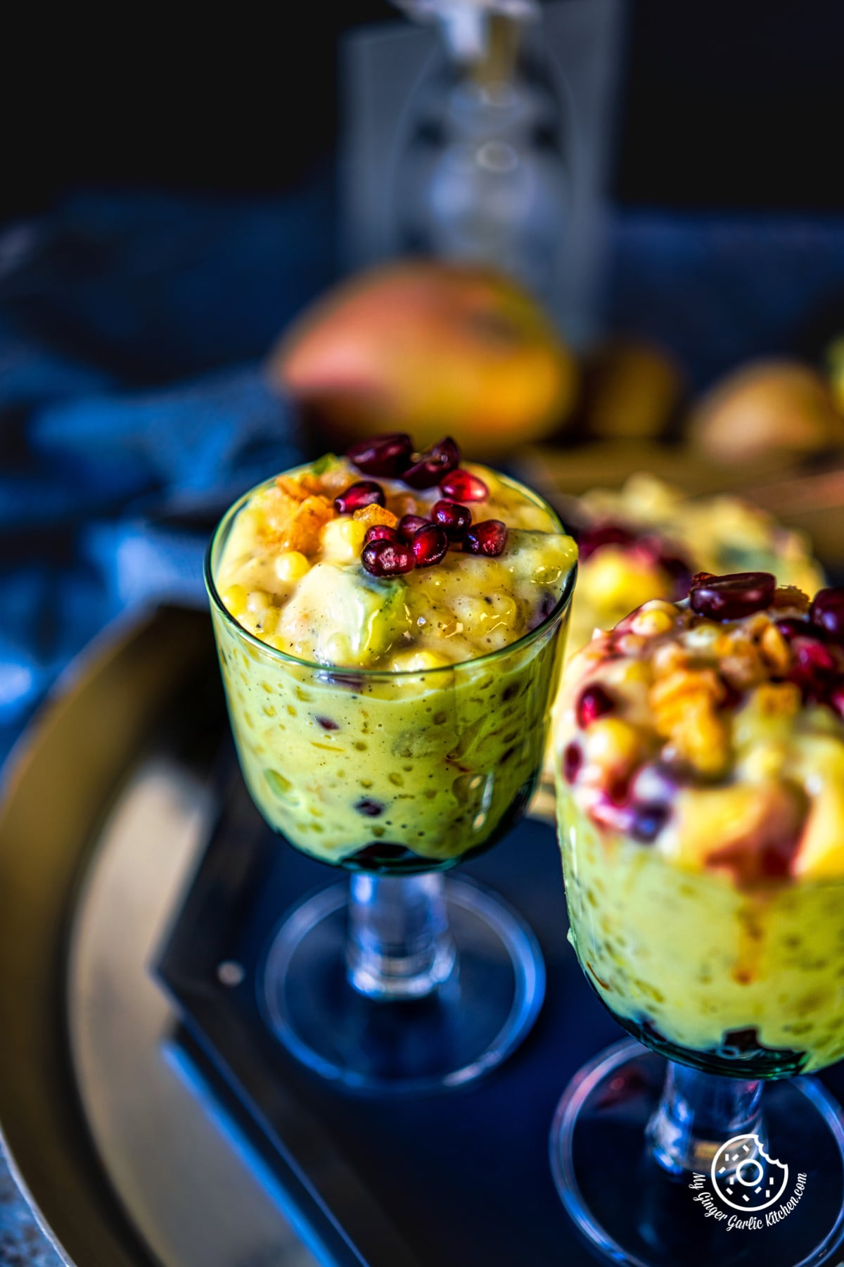 sago fruit custard glasses